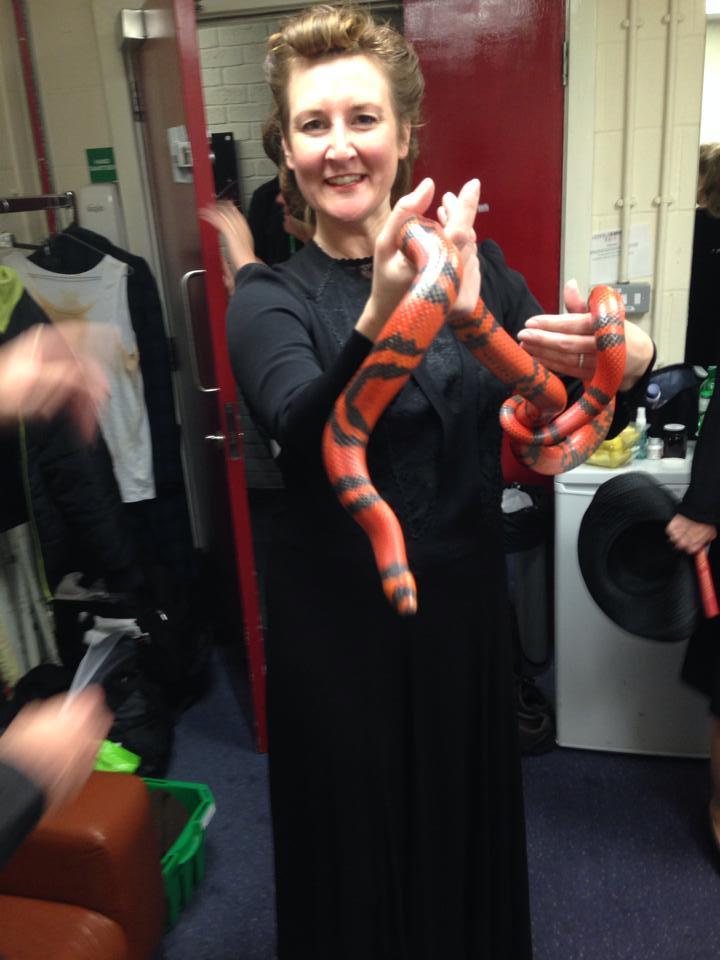 Dawn overcoming her lifelong phobia of snakes